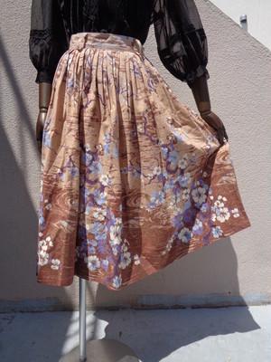 50's Flower pattern circular skirt 花柄サーキュラースカート