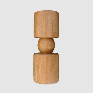 """JACQUE"" Wood Candle Stand"