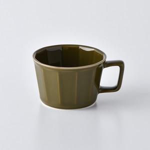 面取スープカップ・ダークグリーン