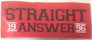 Straight Answer - sticker red