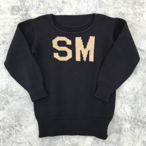 40'S~50'S 編み込みローゲージニットセーター
