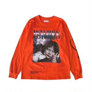 "LILWHITEDOT - ""PSY-BOY"" L/S TEE (ORANGE) -"