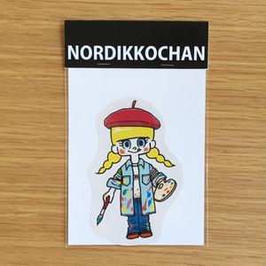 ノルディッコちゃんシール2枚セット(芸術、クリスマス)