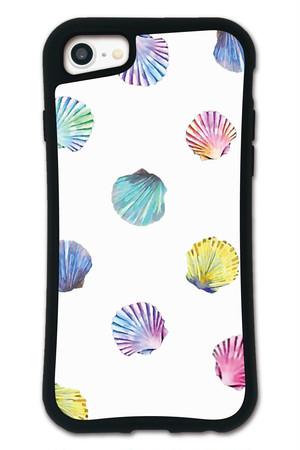 NiCORON シェル ホワイト WAYLLY(ウェイリー) iPhone 8 7 XR XS X 6s 6 Plus XsMax対応!_MK_