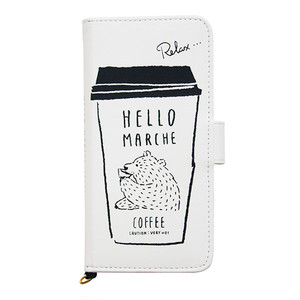 Hello marcheマルチスマホカバー コーヒーのある生活