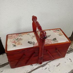 裁縫箱 ドイツ ヴィンテージ ヨーロッパ 蚤の市 大判 木製