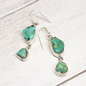 Gem Earrings(Turquoise)
