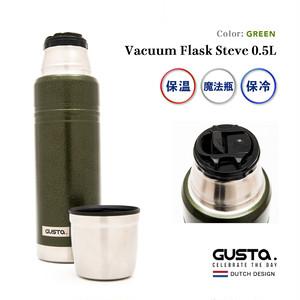 【在庫限り】水筒 魔法瓶 Vacuum Flask Steve 0.5L Green アウトドア キャンプ マイボトル