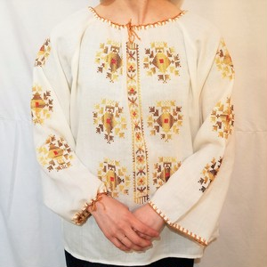 Cross stitch pullover blouse [G-560]