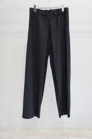 oversize tuck pants -CHARCOAL- / THEE
