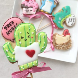 V-Day Cookie Pops / サボテン