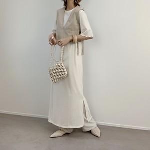 ベストセットTシャツOP/ホワイト