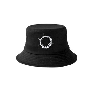 ILL IT - bouquet logo bucket hat (BLACK×WHITE) -