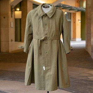 50's FRENCH ARMY MOTORCYCLE  COAT DEADSTOCK - 2