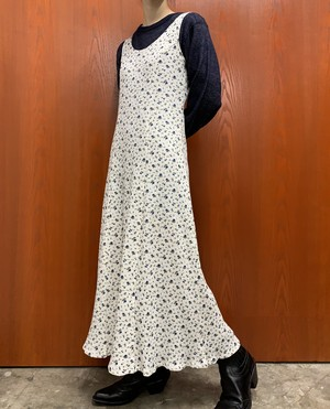 MADE IN USA flower pattern sleeveless maxi one-piece【10】
