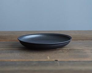 黒鉄釉 緩深皿(M)