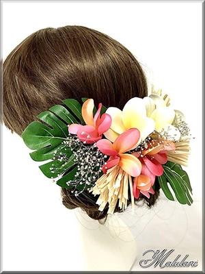 ヘッドドレス 髪飾り Plumeria ハワイアン リゾート パーティー イベント 発表会