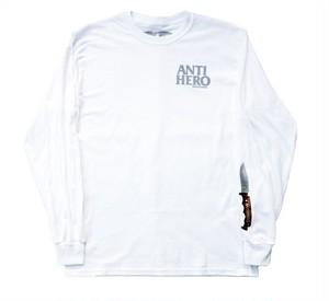 ANTIHERO BUCKSHANK PREMIUM PRINT L/S TEE WHITE ロングTシャツ アンチヒーロー