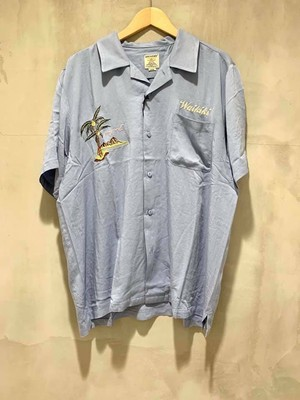 HOUSTON - 刺繍スーベニアシャツ - SAX/HAWAII