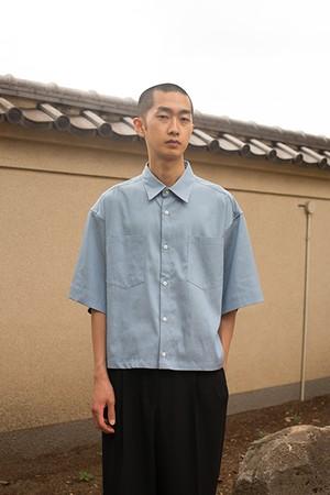 『GEN  IZAWA』ショートオーバードレスシャツ(ライトブルー)