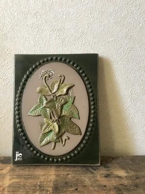 スウェーデンの葉の陶板