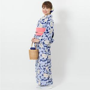 えもん 簡単 大柄花 透かし オパール加工 ジャケット スカート (Bタイプ) 着物 Mサイズ