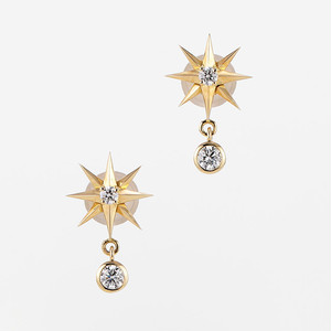 Stars K18 Diamond Pierce (ダイヤモンド ピアス)