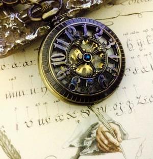 手巻き式 懐中時計ペンダント( 数字)