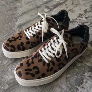【EARLE】Hole cut sneakers Leopard