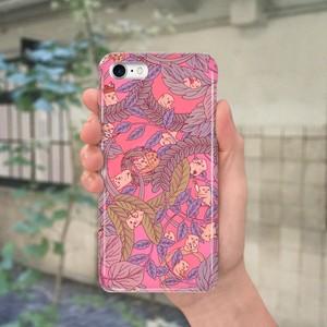 スマホケース(iPhone & Android)草っこ / 色:チェリーピンク