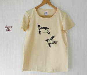 【送料無料!】泳ぐペンギンTシャツ(ナチュラル)
