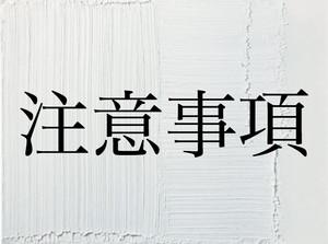〜注意事項〜