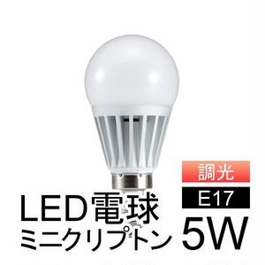 【調光器対応】ミニクリプトン型LED電球 5W 電球色相当 [BMCA5L] 口金E17 消費電力5W 420lm
