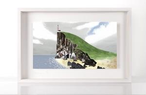 限定プリント 島の灯台