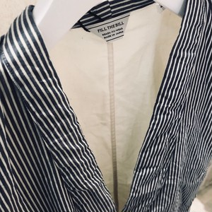 FILL THE BILL SHAWL COLLAR STRIPE VEST【WOMENS】