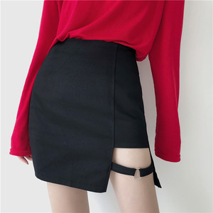 【ボトムス】ファッション春夏スリムセクシーAライン不規則ハイウエストミニスカート