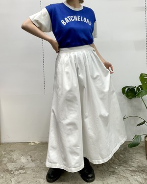 1980-1990s CHAUS SPORT cotton side buttons flare skirt 【10】