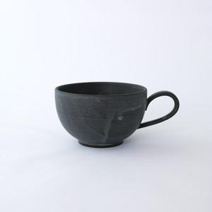 3RD CERAMICS(サードセラミックス) 黒泥カップ丸 φ9.5 × H5.5cm 150ml 岐阜 多治見市 陶器 スタイリッシュ ブラック