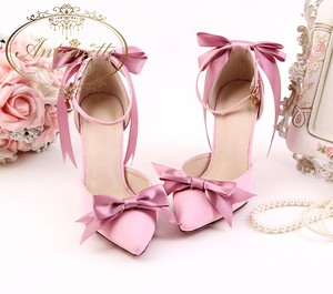 spring collection summer shoes ピンク リボン シューズ パンプス レディース 可愛い 女の子 デートコーデ pink shoes