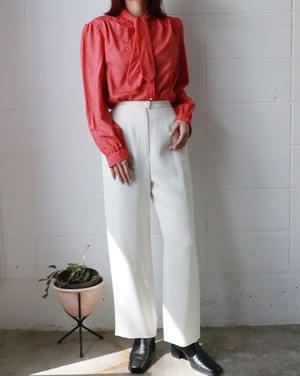 CHANEL off white wide pants