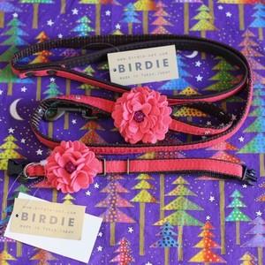 BIRDIE(バーディ) Dahlia(ダリア) Collar&Leash Set