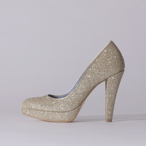 Glitter / Close Toe / 12cm / Gold 【1123 GDG】