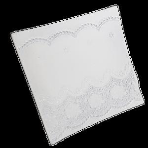 Flower lace square plate /  フラワーレーススクエアプレート L