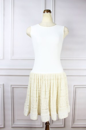 Summer Knit Dress White