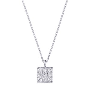 K18WGダイヤモンドネックレス 020201009414
