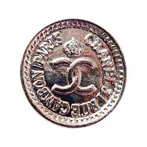【VINTAGE CHANEL BUTTON】シルバー ミニ コイン ココマーク ボタン 1.8cm C-18040-2