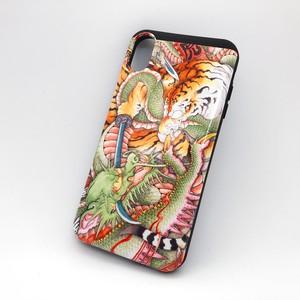 『龍虎図』和柄iPhoneケース  iPhone XS MAX用