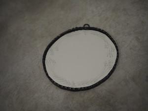 手鏡(輪付き)花・丸 / 雪ガラス