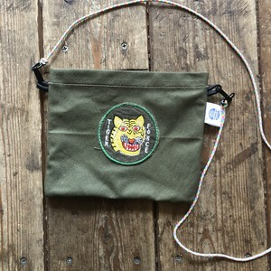 Vintage Tent Cloth Sacoche with patch, Tiger