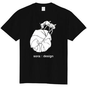 アリとダンゴムシ(ブラック)/昆虫Tシャツ(5.6oz)